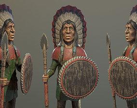 DVB - Wooden Statue - PBR Game Ready 3D model