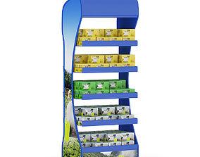 3D model Market Shelf Tea Boxes