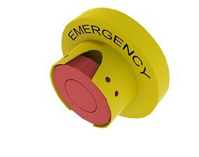 3D asset low-poly Emergency Button