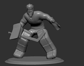 Hockey Player goalie Collectible Figure Statue 3