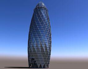 3D Gherkin Building