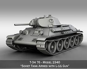 T-34-76 - Model 1940 - Soviet Medium Tank gun