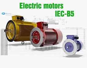 21 CAD Models - Electric motors IEC B5