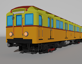 3D model Low Poly Moscow Subway Train Type A-B