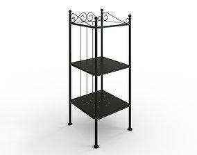 3D asset RONNSKAR Shelf unit black