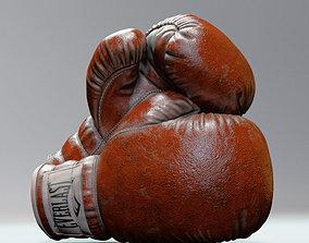Everlast Realistic Boxing Gloves 3D model