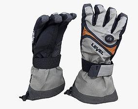 Gloves 3D model snowboard