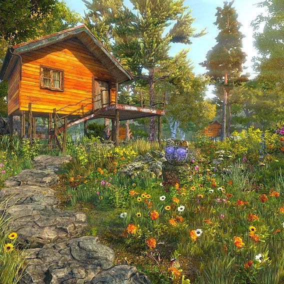 Cabin (Blender + Unity)