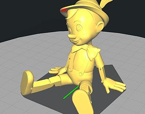 Pinocchio Seated 3D printable model