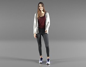 Casual Girl Standing 3D