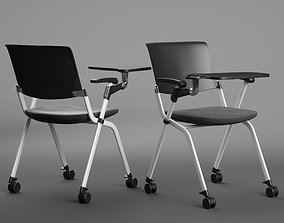 3D model Office folded chair with table