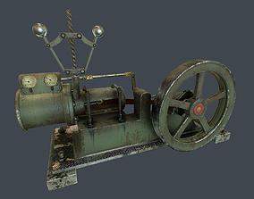 Steam Engine 3D model animated