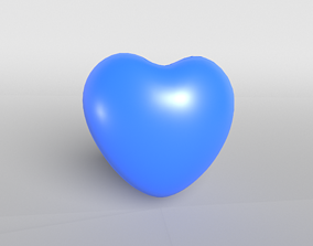 3D asset Blue Heart printable