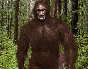 animated Big Foot - Sasquatch 3d model - animated