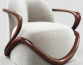3D Giorgetti HUG armchair