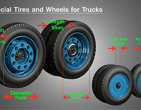 3D model Special Heavy Duty Truck Tires and Wheels