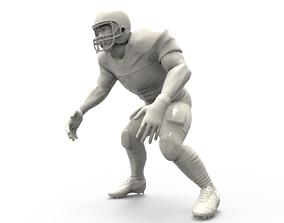 printing American footballer Pose 3D printable model