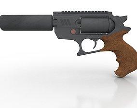 Silenced Revolver 3D model