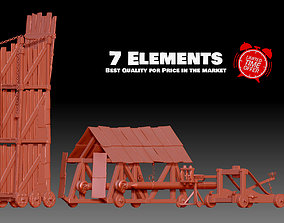 3D print model 7 Medieval and Roman War Machines Siege 1