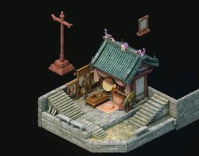 3D Game Model - City - Barber Shop religion