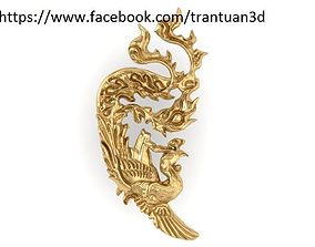 3D print model 48 Gold Phoneix For Jewelry