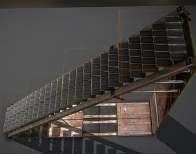 Sci-Fi Stairs Collection Rusty and Basic 3D asset