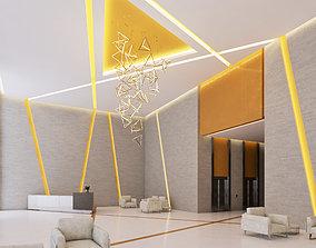 3D model furnishing Modern Lobby