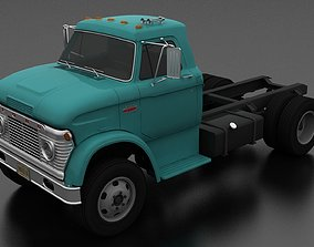 3D asset VR / AR ready N-Series N-600 Truck Chassis 1966