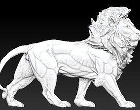 king safari lion statue 3D printable model