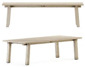 3D asset Teaka table for 8