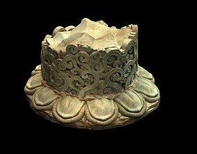 3D Game Model - Kaya Buddha crown architectural