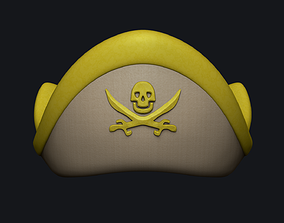 Golden Pirate Hat - Character Costume 3D asset