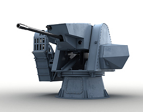 3D model Modern Naval Turret