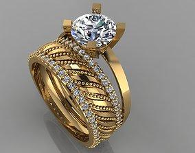 3D print model GC GOLD TW0138- Diamond ring