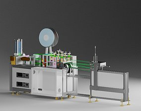 Bandage mask machine - automatic feeding 3D