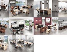 10 Office Interior Pack Collectionc 3D