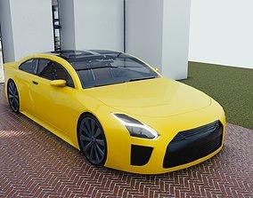 BLENDER EEVEE Brandless Mid Size 2 door sedan 3D model