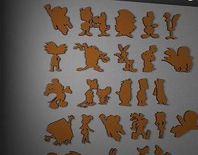Cartoon characters 3D printable model