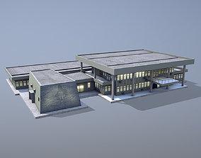 3D asset MilitaryBase PortoVelho Headquarters