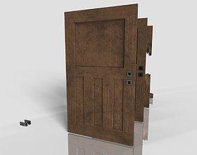 3D model Wood Door - Damage - Old