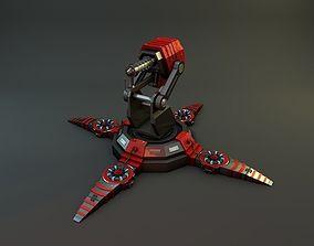 3D Flamethrower Turret Lvl 01