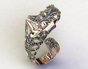 3D printable model Spike Girl Ring