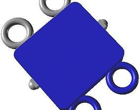 Box clasps 11 - library 3D for the conception of