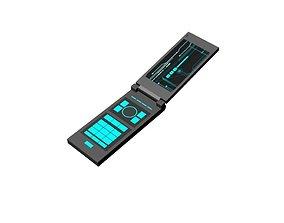 3D asset Cellphone RETRO Flip type