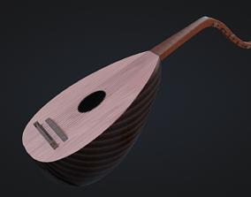 Lute Instrument high 3D model