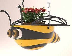 hanging basket flowerpot 3D printable model