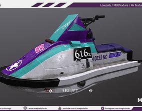 Ski Jet Game ready model low-poly