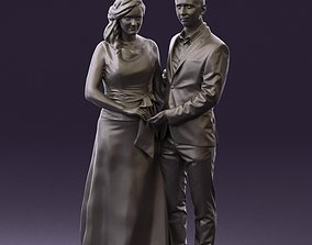 Man and woman in dress 0778 3D Print Ready