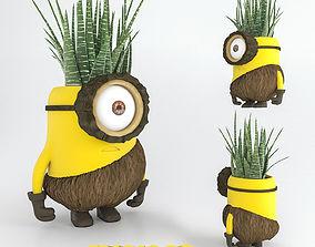 minion flower pot 3D