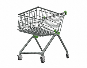 Shopping cart 3 3D model